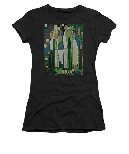 Women's T-Shirt (Junior Cut) featuring the painting We Miss You by Donna Howard