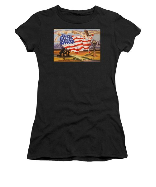 We The People Women's T-Shirt (Athletic Fit)