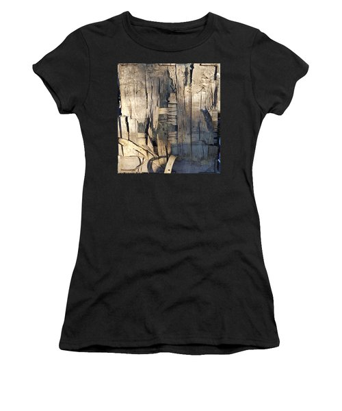 Weathered Plywood Composition Women's T-Shirt