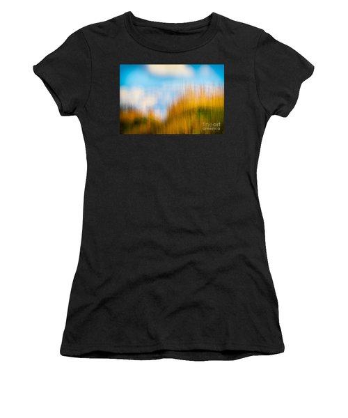 Weeds Under A Soft Blue Sky Women's T-Shirt