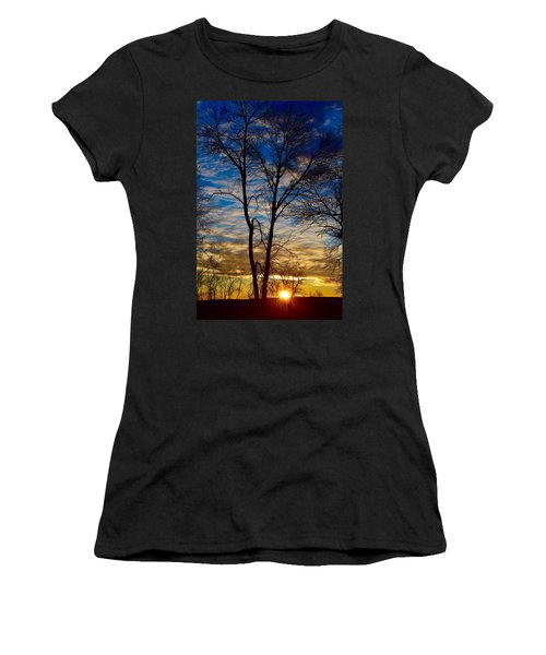 Weekend Sunrise In Minnesota Women's T-Shirt (Athletic Fit)