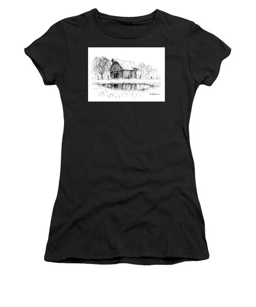 Weeping Willow And Barn Two Women's T-Shirt