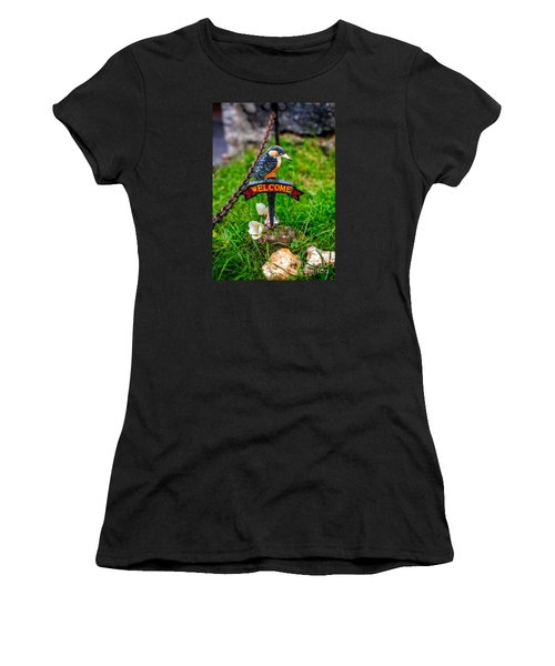 Welcome Sign Women's T-Shirt (Athletic Fit)