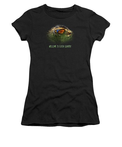 Welcome To Gator Country Design Women's T-Shirt (Athletic Fit)