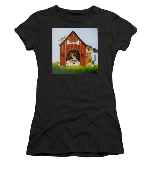 Welcome To The Doghouse Women's T-Shirt (Athletic Fit)
