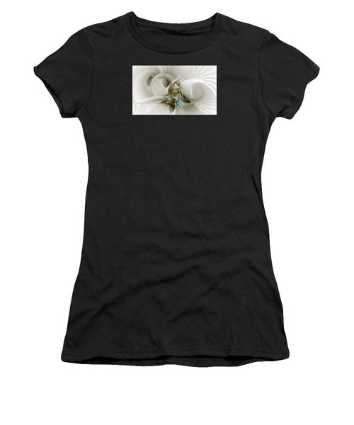 Welcome To The Second Floor-fractal Art Women's T-Shirt (Athletic Fit)