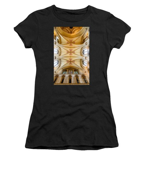 Wells Cathedral Ceiling Women's T-Shirt (Athletic Fit)