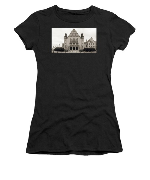 West Facade Of Adam Mickiewicz University Poznan Poland Women's T-Shirt