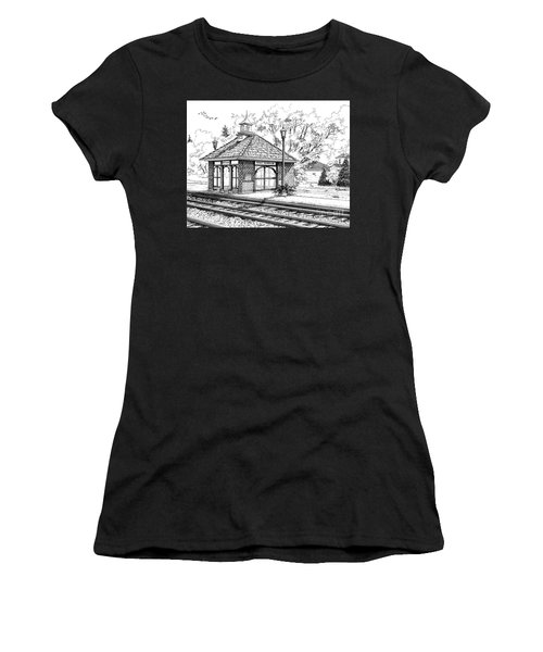 West Hinsdale Train Station Women's T-Shirt