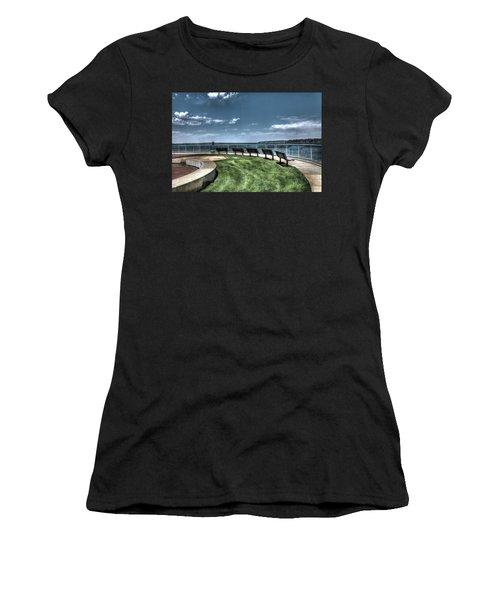West Lake Okoboji Pier Women's T-Shirt