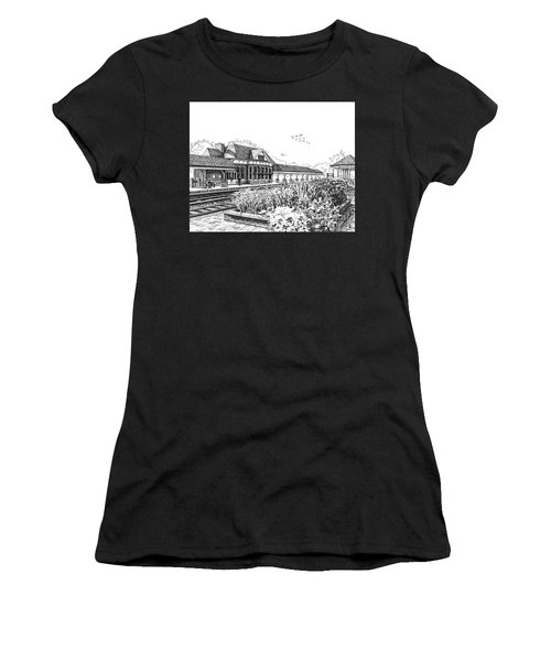Western Springs Train Station Women's T-Shirt