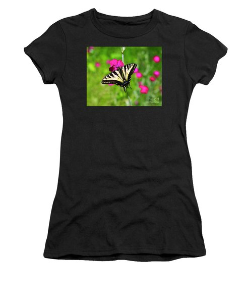 Western Tiger Swallowtail Butterfly Women's T-Shirt (Athletic Fit)