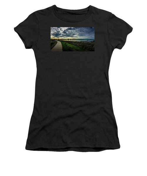 Wetlands Sunset Panorama Women's T-Shirt (Athletic Fit)