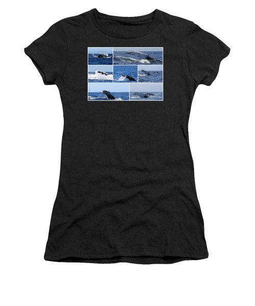 Whale Action Women's T-Shirt (Athletic Fit)