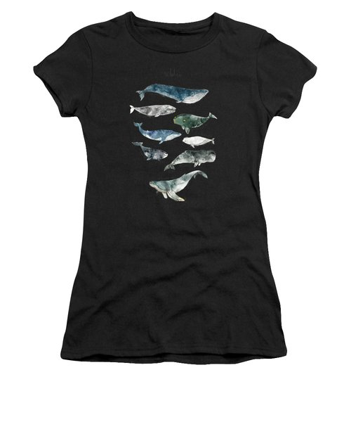 Whales Women's T-Shirt (Athletic Fit)
