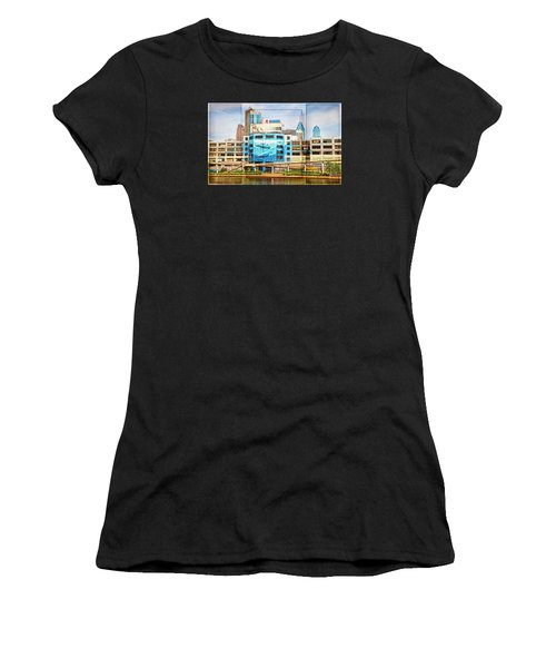 Whales In The City Women's T-Shirt (Athletic Fit)