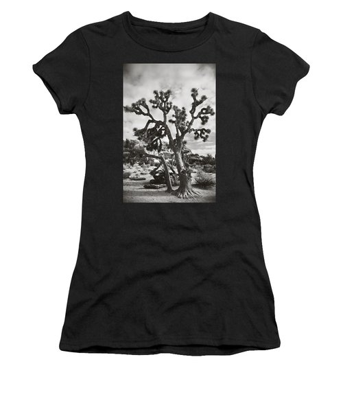 Women's T-Shirt featuring the photograph What I Wouldn't Give Bw by Laurie Search