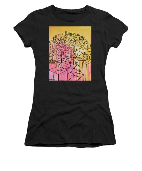 Women's T-Shirt (Athletic Fit) featuring the painting What's Mine Is Yours by Nathan Rhoads