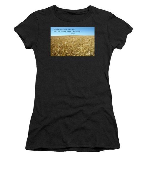 Wheat Field Harvest Season Women's T-Shirt