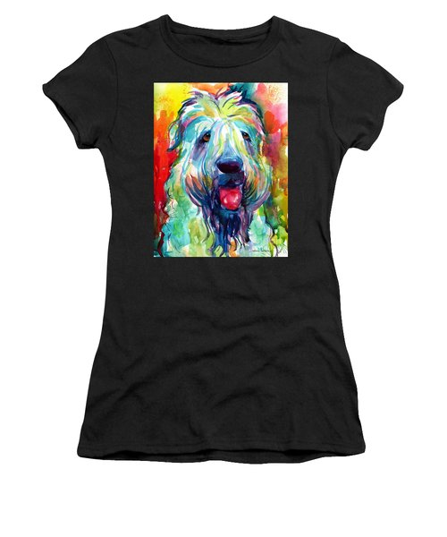 Wheaten Terrier Dog Portrait Women's T-Shirt