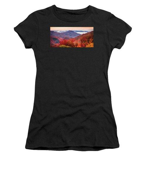 Women's T-Shirt (Junior Cut) featuring the photograph When Mountains Sing by Karen Wiles