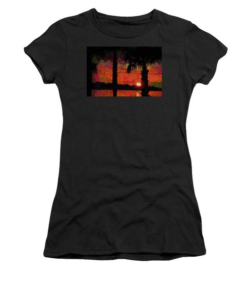 When The Day Ends Time Is Exhausted Women's T-Shirt (Athletic Fit)
