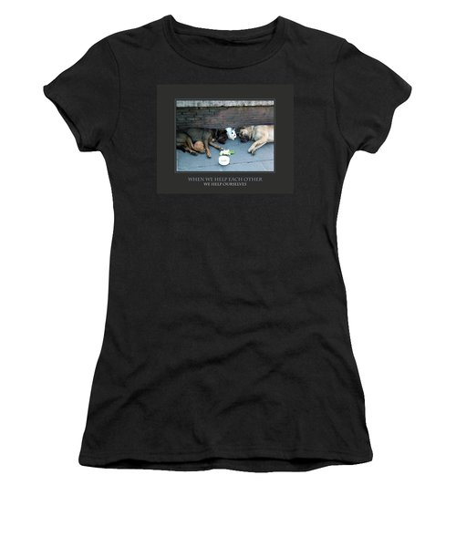 When We Help Each Other Women's T-Shirt (Athletic Fit)