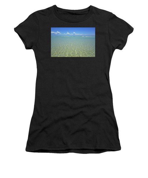 Where Crystal Clear Ocean Waters Meet The Sky Women's T-Shirt