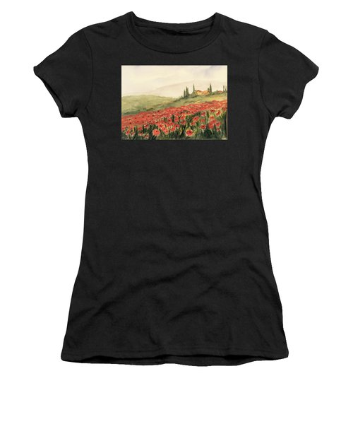 Where Poppies Grow Women's T-Shirt (Athletic Fit)