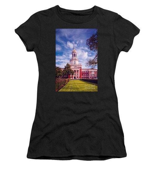 Whimsical Clouds Behind Pat Neff Hall - Baylor University - Waco Texas Women's T-Shirt