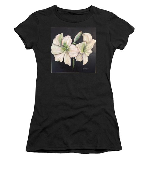 White Amaryllis  Women's T-Shirt (Athletic Fit)
