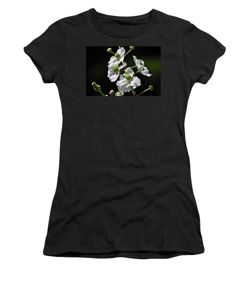 White And Green Wildflowers Women's T-Shirt (Athletic Fit)