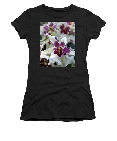 Purple And White Orchid Women's T-Shirt