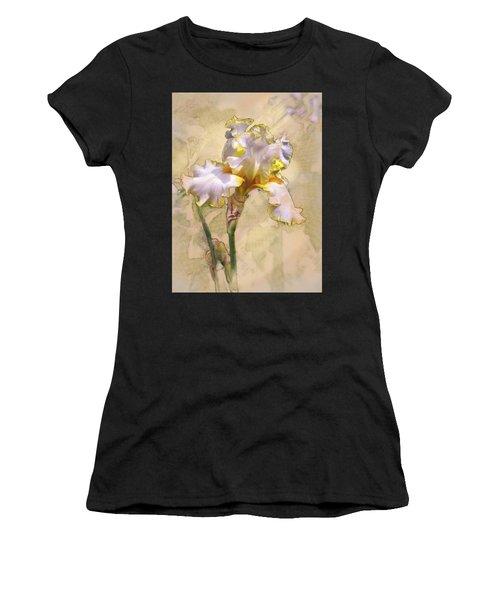White And Yellow Iris Women's T-Shirt