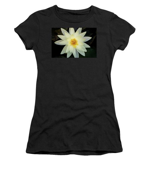 White And Yellow Water Lily Women's T-Shirt