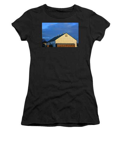 White Barn At Golden Hour Women's T-Shirt (Athletic Fit)