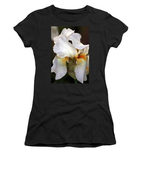 Women's T-Shirt (Junior Cut) featuring the photograph White Bearded Iris by Sheila Brown