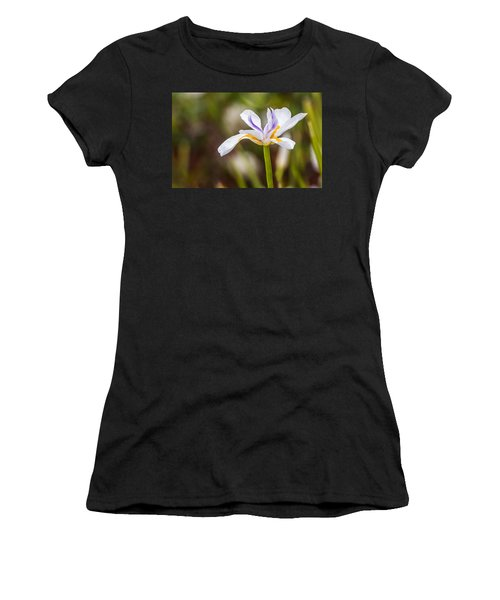 White Beardless Iris Women's T-Shirt
