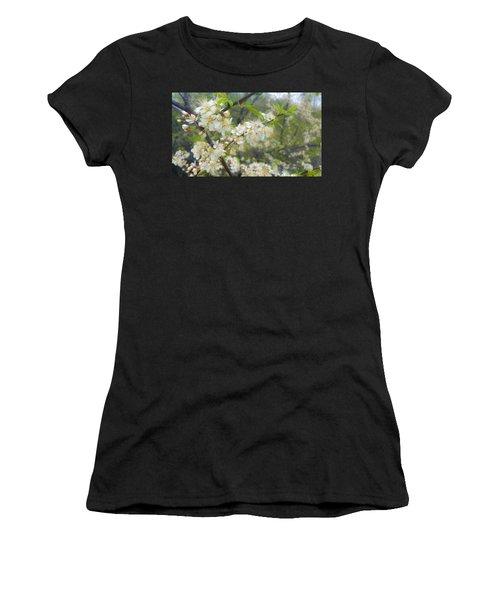 White Blossoms On Fruit Tree Women's T-Shirt