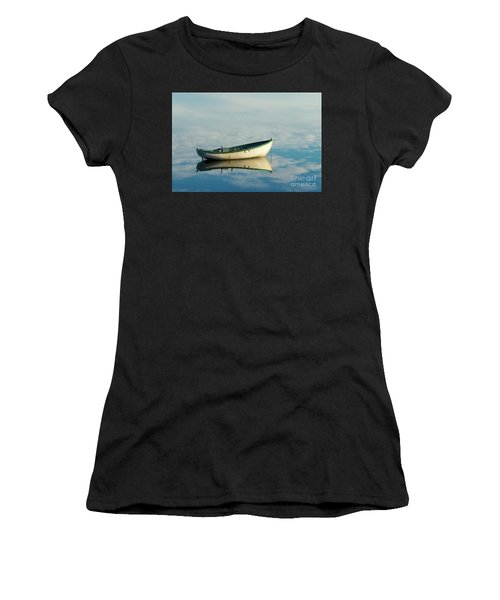 White Boat Reflected Women's T-Shirt
