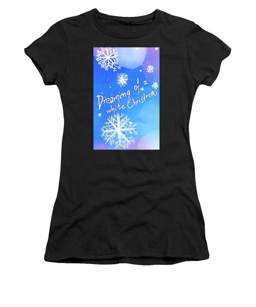 White Christmas  Women's T-Shirt (Athletic Fit)