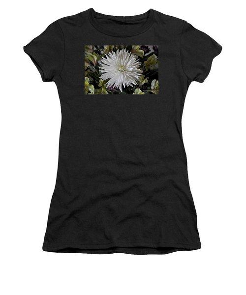 White Chrysanthemum Women's T-Shirt