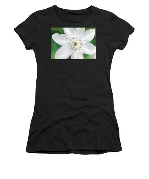 White Clematis Flower Garden 50121 Women's T-Shirt (Athletic Fit)