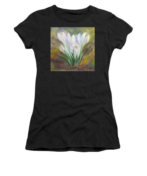 White Crocus Women's T-Shirt