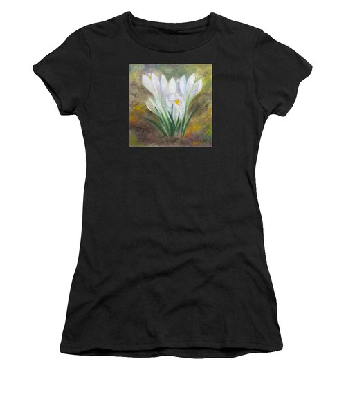 White Crocus Women's T-Shirt