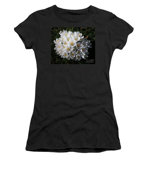 White Crocuses Women's T-Shirt