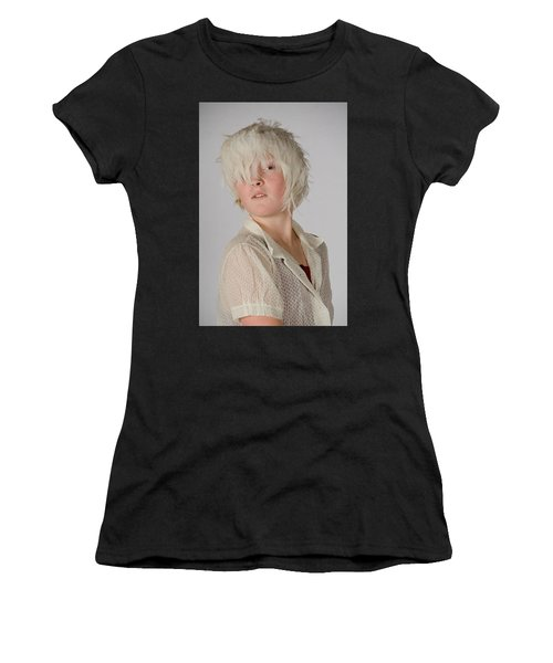 White Feather Wig Girl Women's T-Shirt
