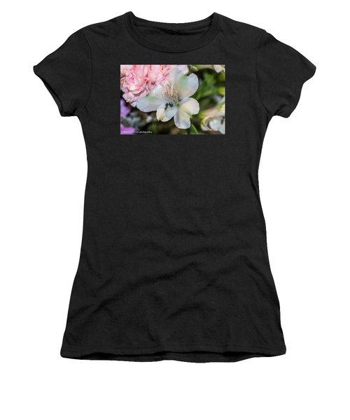 White Flower Women's T-Shirt (Junior Cut) by Nance Larson