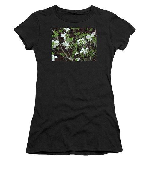 White Flowering Dogwood Women's T-Shirt (Athletic Fit)