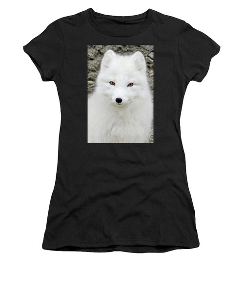 White Fox Women's T-Shirt (Athletic Fit)